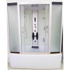 Гидромассажный бокс Atlantis AKL1108-A профиль сатин, задние стенки белые, стекло матовое