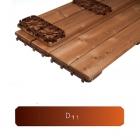 Террасная доска Thermory Sahara Quick-Deck Mosaic, профиль D11