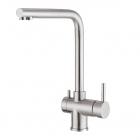 Смеситель для кухни с изливом для фильтрованной воды Foster Gamma 3 Vie 8496 100 сатин