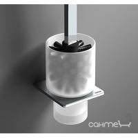 Ершик для унитаза Sonia S-cube 166855 хром матовое стекло