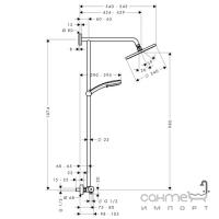 Душевая стойка с термостатом Hansgrohe Showerpipe Verso 240 27205000 хром