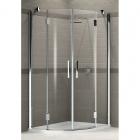 Душевая кабина полукруглая, дверцы распашные Novellini Louvre R 100x100 LOUVRR100–1-K хром, прозрачное стекло