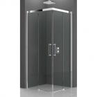 Душевая кабина квадратная, дверцы раздвижные Novellini Rose Rosse 90x90 ROSEA88L хром, прозрачное стекло