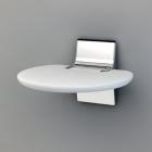 Сиденье настенное складное Novellini Eva SED01FM-A белое