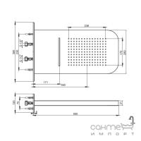 Верхний душ скрытого монтажа Ponsi Duo BNSOFXSF01 хром