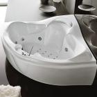Гидро-аэромассажная ванна Treesse Haiti white/chrome с боковой панелью