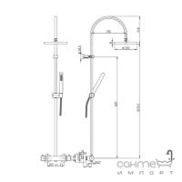 Душевая стойка Paini Shower Line 78CR689THCOX хром