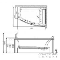 Гидро-аэромассажная ванна Volle 12-88-100 R правосторонняя