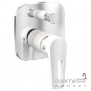 Смеситель для ванны скрытого монтажа Imprese Breclav VR-10245WZ хром/белый