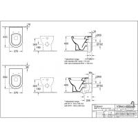 Унитаз напольный Villeroy&Boch Subway 660710R1 белый ceramicplus