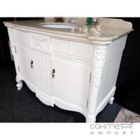Комплект мебели для ванной комнаты Godi LY-01 (Anti-white, столешница Light Beige)